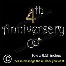 Anniversary Party Rhinestone Hotfix Iron on Transfer Motif Appliqué + Free Gift