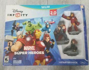 NINTENDO WII U Disney Infinity 2.0 Marvel Super Heroes Starter Pack Sealed