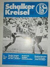 Programm 84/85 Schalke 04 Werder Bremen Fußball Stadionheft Schalker Kreisel SVW