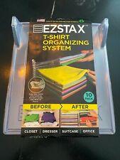 New listing Ezstax T-Shirt Organizing System 10 Pack Interlocking Plastic Storage
