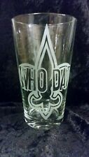 """New Orleans inspired """"Who Dat"""" Etched Pint Glass"""