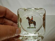 VINTAGE GLASS ASH TRAY - ROYAL CANADIAN MOUNTED POLICE - 7.5cm - GOOD - MOUNTIE