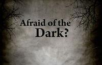 "Framed Print - ""Afraid of the Dark"" (Picture Poster Dark Gothic Horror Word Art)"