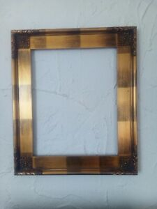 """Decorative Gold Picture Frame,4"""" wide, Wood, Size 24"""" x 20"""", Arqadia 867 693 900"""