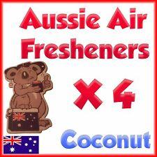 Car Air freshener home truck deodoriser Coconut scent Quad pack 4 in 1
