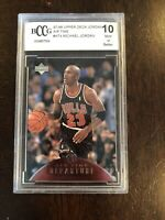 1997-98 Upper Deck Jordan Air Time AT4 Michael Jordan BCCG 10 SP BGS PSA
