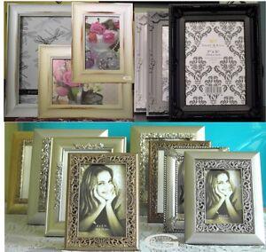 "Picture/Photo Frames Antique Ornate Vintage Wedding Style 6x4"" 5x7,10x8 A4 12x9"