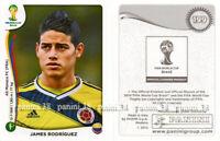 "RARE !! JAMES RODRIGUEZ Sticker ""WORLD CUP BRASIL 2014"" Panini"