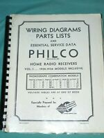Large Bound Copy Philco Wiring Diagrams Parts Lists and Essential Service Data