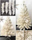 Vtg Revlis Starlite White Christmas Tree 6' Tall Pole Stand Star Mid Century MCM
