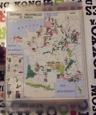 Set de Table carte art print Culture et Forêt Betterave Chanvre Tabac Fleurs Lin