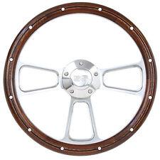 Chevelle, El Camino Billet & Real Mahogany Steering Wheel, SS Logo Engraved Horn