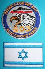 ISRAEL National Flag and IDF Air Force RADAR & COM 503 SITE  IAF Patches #0203