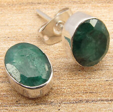 Silver Plated Jewelry ! EMERALD Art STUD Earrings ONLINE SHOPPING FOR JUST $0.99