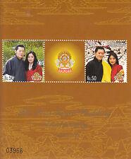 Bhutan 2012 MNH 1st Royal Wedding 2v Sheet I Royalty