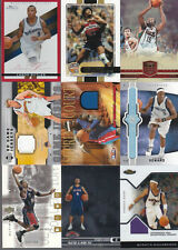 HUGE SPORTS CARD COLLECTION BASKETBALL GAME USED JERSEY AUTO # INSERT LOT