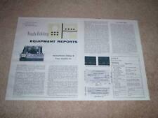 Harman Kardon Citation B Amplifier Review, 2 pgs, 1964