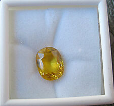 NATURAL OVAL CEYLON YELLOW SAPPHIRE 5.34 CARATS W/FREE APPRAISAL