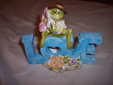 "FROG,  Tabletop Love Frog,    6""W x 6""T,   Frog Figurine"