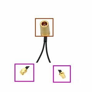 1x SMB jack to 2x SMA Male/Female GPS Antenna Y Splitter/Combiner Adapter cable