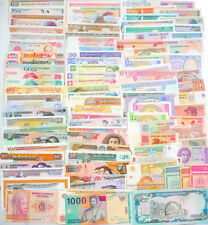 102 Different world paper money collection, UNC genuine, new banknotes.