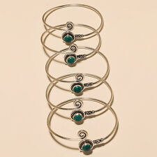 Turquoise Silver Plated Gemstone Handmade Cuff Bengal Bracelet Jewelry