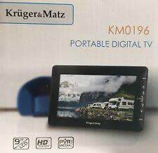 Krüger&Matz KM0196 Tragbarer Fernseher Portabler hochauflösender LCD mit DVB-T D