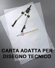 CARTA A4 TRASPARENTE ADATTA PER DISEGNO TECNICO - 90g - 10 FOGLI - OPACA