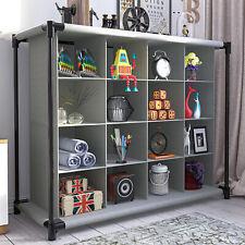 16 Cube Bookcase Display Shelves Storage Organiser Shoe Shelf Rack Shelving Unit