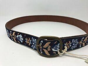 Women's Lucky Brand Suede Belt Size- XL Color- Blue Floral