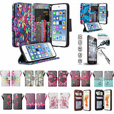 For Apple iPod Touch 7th 5th 6th Gen Case Wallet Case w/Kickstand and Card Slots