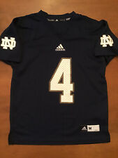 Adidas Notre Dame NCAA Irish #4 Printed Football Boys Medium Blue
