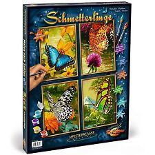 Schmetterlinge Quattro Malen nach Zahlen Schipper Bläuling 609340628
