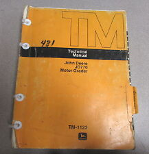 John Deere JD770 Motor Grader Technical Manual TM-1123 1975