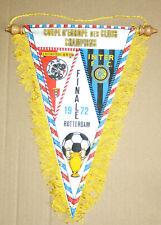Football Pennant wimpel fanion Inter v Ajax Amsterdam champions cup final 1972