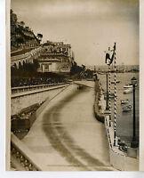 PHOTO ORIGINAL VINTAGE G.P. AUTOMOBILE DE MONACO 1935 ALFA ROMEO P3 N°22 BRIVIO