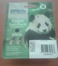 Cartouche d'encre Epson noire T0501 pack double