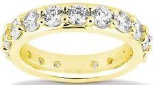 2.71 carat Round Diamond Eternity Band Wedding 14k Gold Ring 14k Yellow Gold