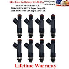 OEM Denso 8X Fuel Injectors for 2010-2013 Ford F-150 6.2L AL3E-F7A