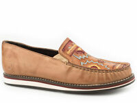 Roper Womens Tan Leather Pocahontas Slip-On Shoes