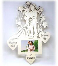Hochzeitsgeschenke Bilderrahmen mit Namen Datum I Holz Geschenke Wohnung Zimmer
