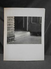 "Vintage Signed ""Many Feet Have Passed"" Abstract Art Photograph Photo Picture"