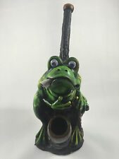 HANDMADE TOBACCO PIPE, Smoking Bull Frog Design.