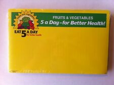 Retail Produce Price Card  Five-A-Day  7 x 11 inch  300 cards Pack