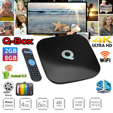 Qbox 8GB 2GB 4K + Wifi KD 17.3 Android 6.0 Smart Tv Box Quad Core S905X