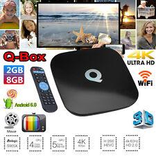 QBOX 8GB 2GB 4K UHD WIFI KD 17.3 Android 6.0 Smart TV BOX Quad Core S905X