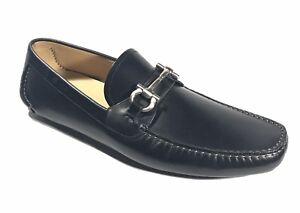 NEW SALVATORE FERRAGAMO Parigi Bit Black Leather Loafer Men Shoes Sz 5 UK 6 US