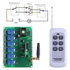 110-240V Relay Module Switch 6 Channel RF Relay Board Wireless Remote Control