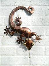 Gecko Wall Art Ornament - Metal Geckos Lizard Wall Hanging - Bronze