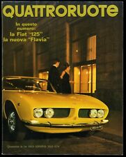 QUATTRORUOTE N° 136 - APRILE 1967 - FIAT 125 LANCIA FLAVIA FIAT 124 SIMCA 1501